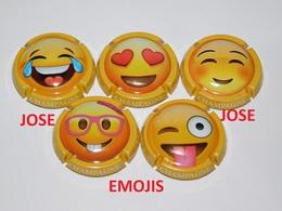 Série De 5 Capsules De Champagne  - GENERIQUE (Emojis) - Verzamelingen