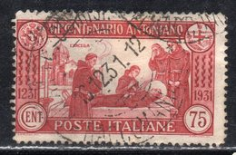 Rox 1931 Regno D'Italia  S.Antonio 75c  Usato - Oblitérés