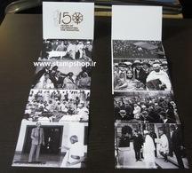2019 - Folder With 8  Postcard 150th Birth Anniversary Of Mahatma Gandhi  + 1 Miniature Sheet - Iran - Mahatma Gandhi