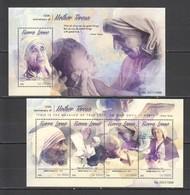 ST552 2015 SIERRA LEONE FAMOUS PEOPLE MOTHER TERESA 1KB+1BL MNH - Mutter Teresa