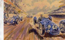 Talbot Lago  -  Gagné Les 24 Heures Du Mans 1950  -  Artist: Géo Ham -  Carte Postale Moderne - Le Mans