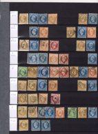 Bel Ensemble D'oblitérations Des Bureaux De Paris Los. Lettres Baton  144 T.  TB - Marcophily (detached Stamps)
