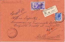 (St.Post.).Repubblica.60 Lire Su Raccom. In Tariffa 80 Lire Del 6 Ago 1953.Annulli Di Marianopoli (88-15) - 6. 1946-.. Republik