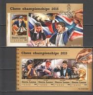 ST563 2015 SIERRA LEONE GAMES CHESS CHAMPIONSHIPS 1KB+1BL MNH - Chess
