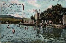 ! 1906 Alte Ansichtskarte Aus Leipa , Lípa, Schwimmschule, Freibad - Tchéquie