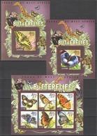 ST572 2015 SIERRA LEONE FAUNA INSECTS BUTTERFLIES 1KB+2BL MNH - Schmetterlinge