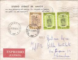 """(St.Post.).Repubblica.1975.Ultimo Giorno Tariffa Espressi.Serie """"Boccaccio""""in Uso Solo 9 Giorni (3-18) - 6. 1946-.. Republik"""