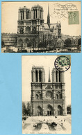 Lot De 2 CPA 75 PARIS Cathédrale Notre Dame - Notre-Dame De Paris