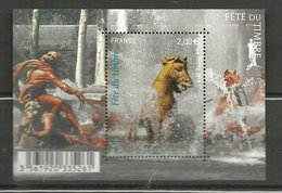 France 2010 Stamp Festival (III). Apollon Fountain In The Palace Of Versailles. Horse Mi Bloc 125 MNH(**) - Francia
