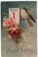 CPA - Carte Oiseaux  - Janvier - Pájaros