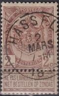 "(28) COB/OBP 55 ""HASSELT"" +2 - 1893-1900 Schmaler Bart"