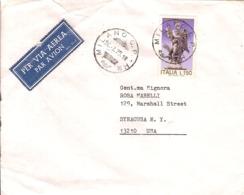 """(St.Post.).Repubblica.1975. """"Anno Santo"""".150 Lire Nell'unico Giorno D'uso In Tariffa Per Gli USA (113-19) - 6. 1946-.. Republik"""