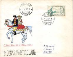 """(St.Post.).Repubblica.1958.""""Sardegna"""".25 Lire Su FDC (52-17) - F.D.C."""