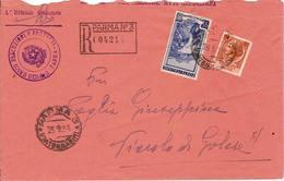 (St.Post.).Repubblica.1954.-80 Lire Ruota + 55 Lire Ruota Su Raccomandata In Tariffa 135 Lire (87-15) - 6. 1946-.. Republik
