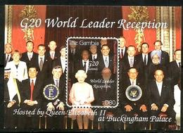 GAMBIA - 2009 - G20 World Leader Reception - Perf Souv Sheet - M N H - Gambia (1965-...)