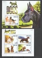 ST629 2015 SIERRA LEONE ANIMALS DOGS 1KB+1BL MNH - Hunde