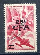 25 Fr.overprinted CFA Used - Airoplane & Greek Messenger God Hermes Flying - Mercure Volant  Reunion - Reunion Island (1852-1975)