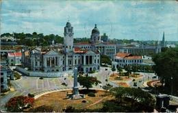 ! 1956 Ansichtskarte Aus Singapur, Singapore, Empress Place, Machine Cancel Stamp Exhibition - Singapore