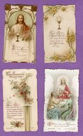 Image Pieuse Communion Villers Bocage  1909 Et 1904 - Religión & Esoterismo