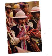 Carte Joueur De Flute  Cachet Sur Congres - Bolivien