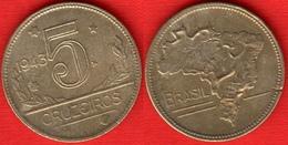 Brazil 5 Cruzeiros 1943 Km#560 - Brasil