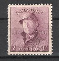 Belgie, OBP 176, Ongebruikt Met Plakker (MH), Mooi - 1919-1920 Trench Helmet