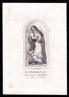 Incisione, Santino: B. COLOMBA V.O.P. - Rieti - RB - XIX Sec.- M. Moneta Inc. - - RI-INC031 - Religion &  Esoterik