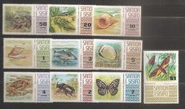 Samoa 1972 N° 305 / 14 ** Coquillages, Strombus, Oryctes Rhinocéros, Poisson, Crabe, Papillons De Nuit, Langouste, Thon - Samoa