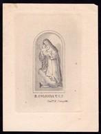 Incisione, Santino: B. COLOMBA - Sec. XIX - RB - Mm.: 78 X 105 - RI-INC020 - Religion & Esotericism