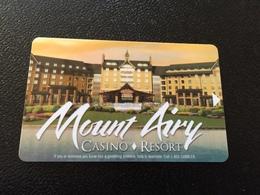 Hotelkarte Room Key Keycard Clef De Hotel Tarjeta Hotel  MOUNT AIRY CASINO RESORT  MOUNT POCONO - Telefonkarten