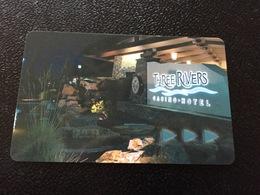 Hotelkarte Room Key Keycard Clef De Hotel Tarjeta Hotel  THREE RIVERS CASINO & HOTEL  FLORENCE OREGON - Telefonkarten