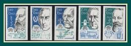 Non Dentelé N° 2396 à 2400 (*) MNG (cote 92 €) PC 1986 Physiciens Chimistes - Non Dentelés