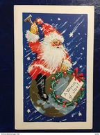 Cpa USA--gaufréé-embossed---Père Noël--Santa Claus (my Ref USA10) - Santa Claus