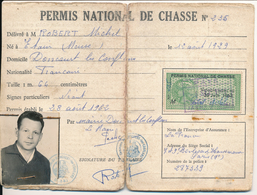 Permis De Chasse - 1962 - Timbre Fiscal - Délivré à Doncourt-les-Conflans (recto/verso) - Fiscaux