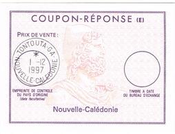 Nouvelle Caledonie New Caledonia Postal Stationery Coupon Reponse International Cachet Date La Tontouta G 97 Neuf BE - Brieven En Documenten