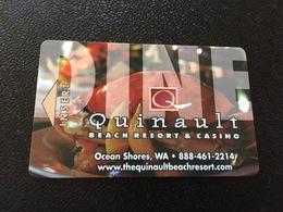 Hotelkarte Room Key Keycard Clef De Hotel Tarjeta Hotel  QUINAULT BEACH RESORT & CASINO OCEAN SHORES - Telefonkarten