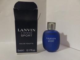 Miniature Pleine Avec Boite Lanvin Homme Sport - Miniatures Modernes (à Partir De 1961)