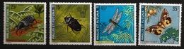 Wallis Et Futuna 1974 N° 185 / 8 ** Insecte, Oryctes Rhinocéros, Charançon Bananier, Libellule, Papillon De Nuit Oranges - Unused Stamps
