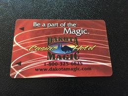 Hotelkarte Room Key Keycard Clef De Hotel Tarjeta Hotel  DAKOTA MAGIC CASINO HOTEL  HANKINSON - Telefonkarten