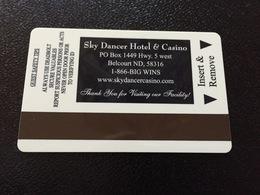 Hotelkarte Room Key Keycard Clef De Hotel Tarjeta Hotel  SKY DANCER HOTEL & CASINO  BELCOURT - Telefonkarten