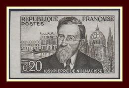 Non Dentelé N° 1242 * (adhérence) P. Giraud De Nolhac 1960 Historien - Non Dentelés