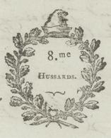 Héraldique Belfort An 4 - 6.9.1796 Christophe,Chef D'Escadrons Au 8e Régiment Des Hussards- Beau Cachet De Cire - Documents Historiques
