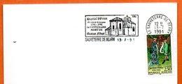 MAURYn° 2707  GASTON FEBUS ( Flamme Concordante ) 64 SAUVETERRE DE BEARN Lettre Entière N° LM 283 - Storia Postale