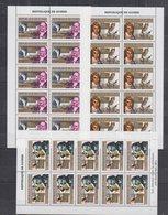 P323.10x Guinea - MNH - Birds - Owls - Researchers - Full Sheet - Otros