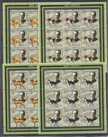 O720. 9x Mozambique - MNH - 2002 - Fauna - Pets - Dogs - Full Sheet - Pflanzen Und Botanik