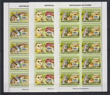 L326. Guinea - MNH - Anima Kingdom - Birds - Owls - Mushrooms - 2007 - Altri