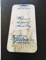 Hotelkarte Room Key Keycard Clef De Hotel Tarjeta Hotel    HILTON ATLANTIC CITY  CASINO RESORT - Telefonkarten