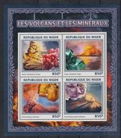 B719. Niger - MNH - 2016 - Nature - Minerals - Volcanos - Flora