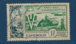 "Cameroun Aerien YT 44 (PA) "" Libération "" 1954 Oblitéré - Kamerun (1915-1959)"