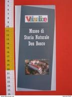 Z.06 FOSSILI DEPLIANT MUSEO PALEO - ITALIA TORINO MUSEO STORIA NATURALE DON BOSCO VALSALICE PIEGHEVOLE - Dépliants Turistici